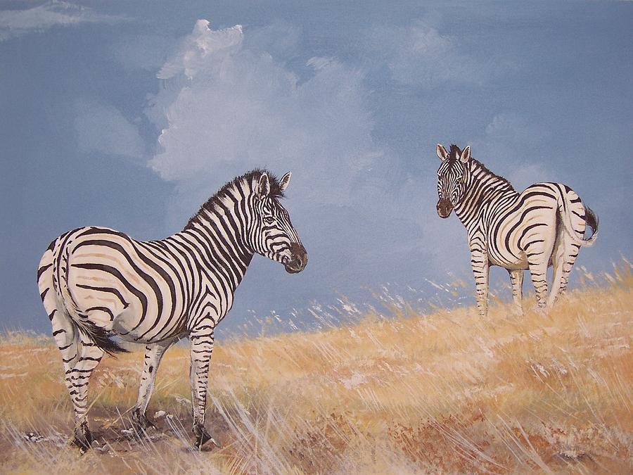 Stormy Zebra Painting