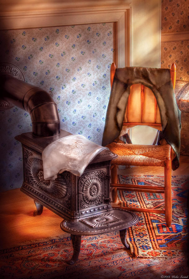 Stove - The Stove And The Chair  Photograph  - Stove - The Stove And The Chair  Fine Art Print