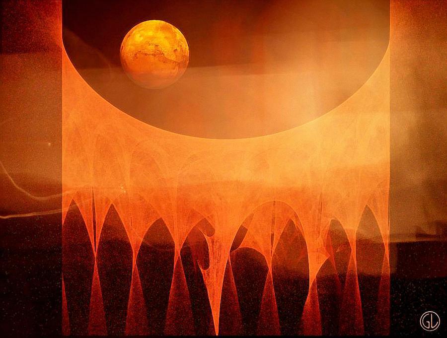 Space Digital Art - Strange Moon by Gun Legler