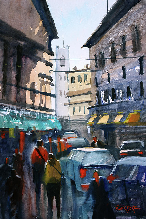 Strangers In Rome Painting