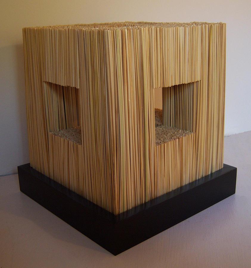 Straw Cube Sculpture