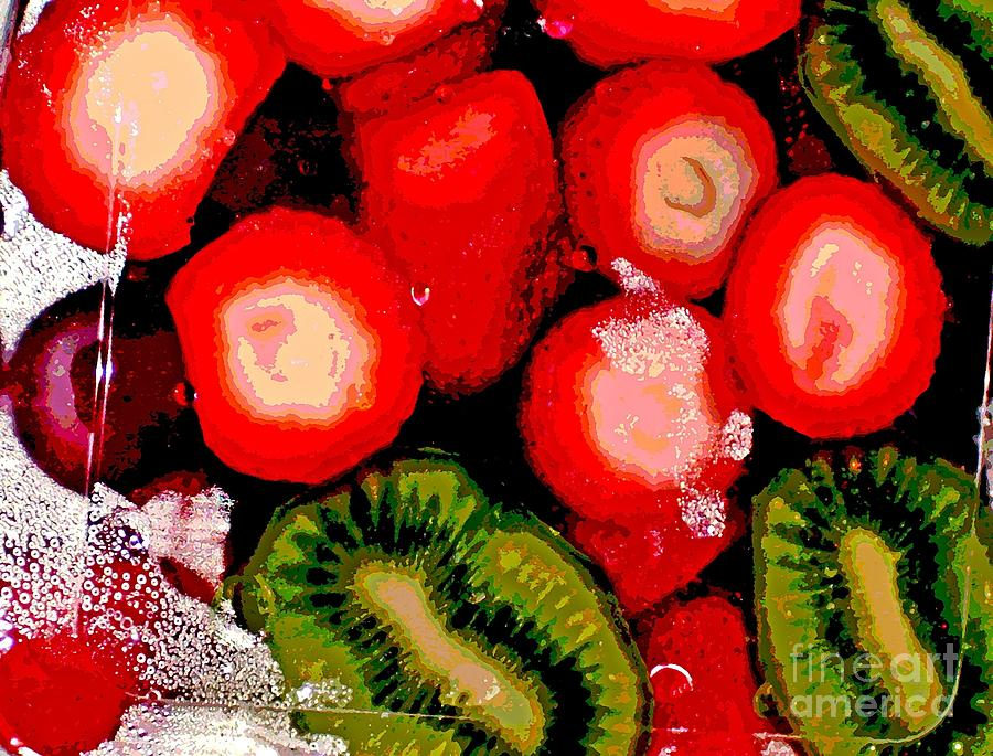 Strawberries And Kiwi Photograph  - Strawberries And Kiwi Fine Art Print