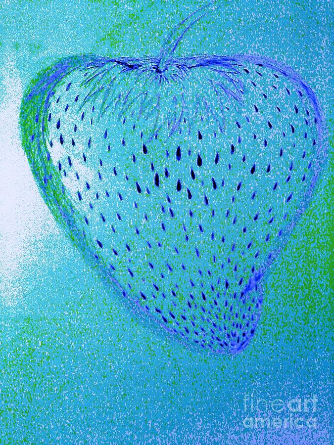 Strawberry Of Disguise Drawing  - Strawberry Of Disguise Fine Art Print