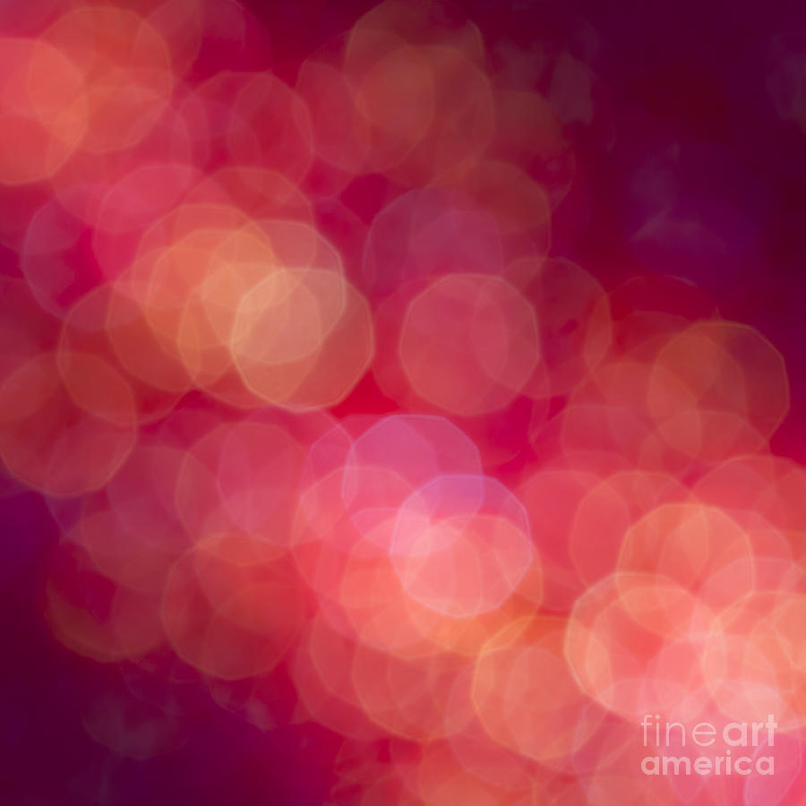 Abstract Photograph - Strawberry Sherbet by Jan Bickerton