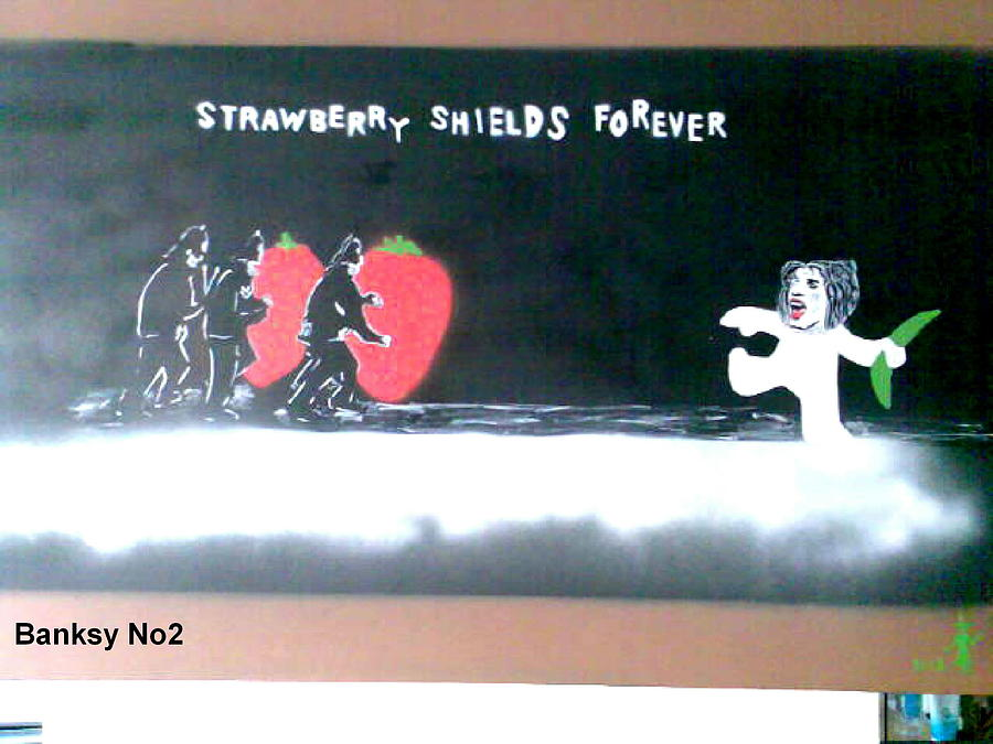 People Painting - Strawberry Shields Forever by MERLIN Vernon