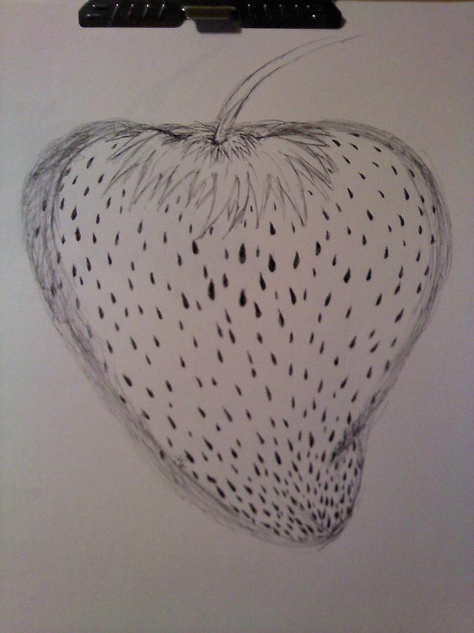 Strawberry Drawing  - Strawberry Fine Art Print
