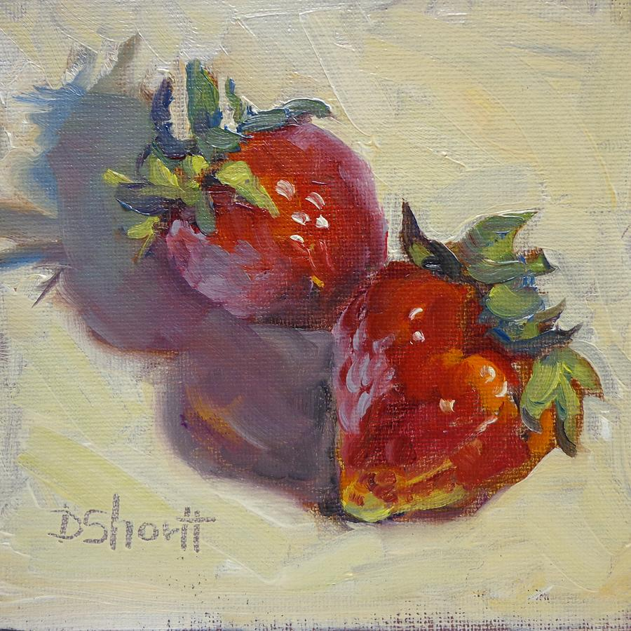 Strawberry Twins Painting  - Strawberry Twins Fine Art Print