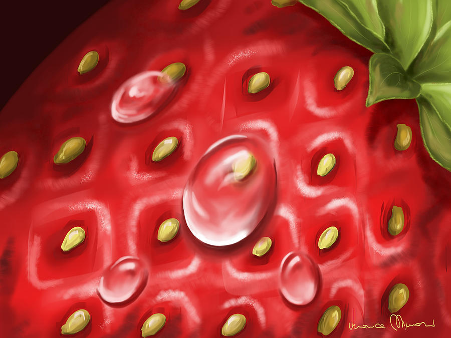 Digital Painting - Strawberry by Veronica Minozzi