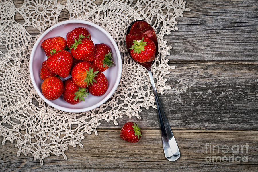 Strawberry Vintage Photograph