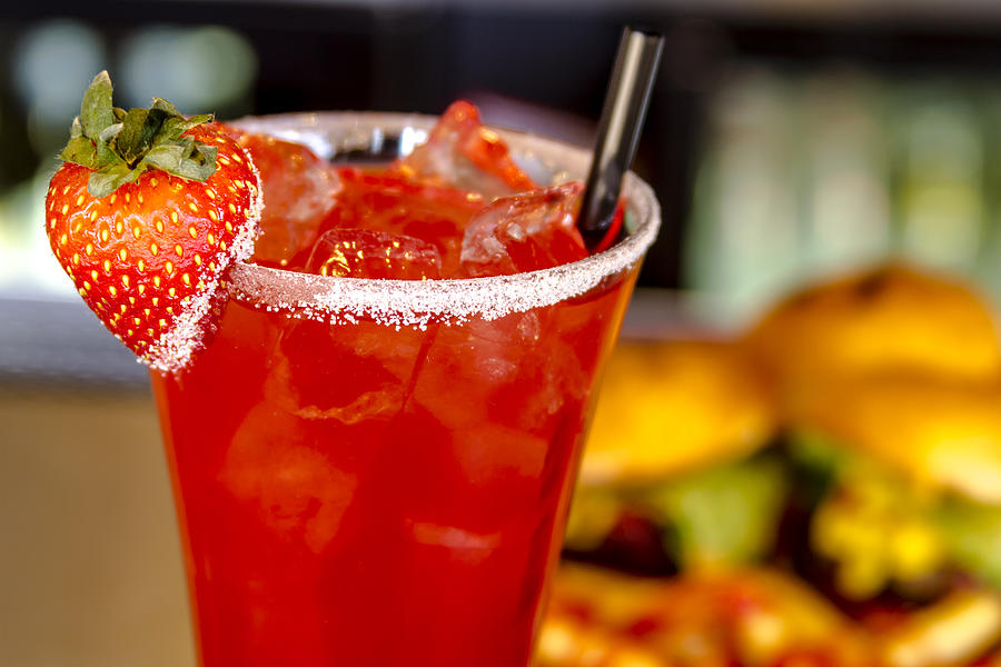 Strawberry Vodka Drink And Dinner is a photograph by Teri Virbickis ...