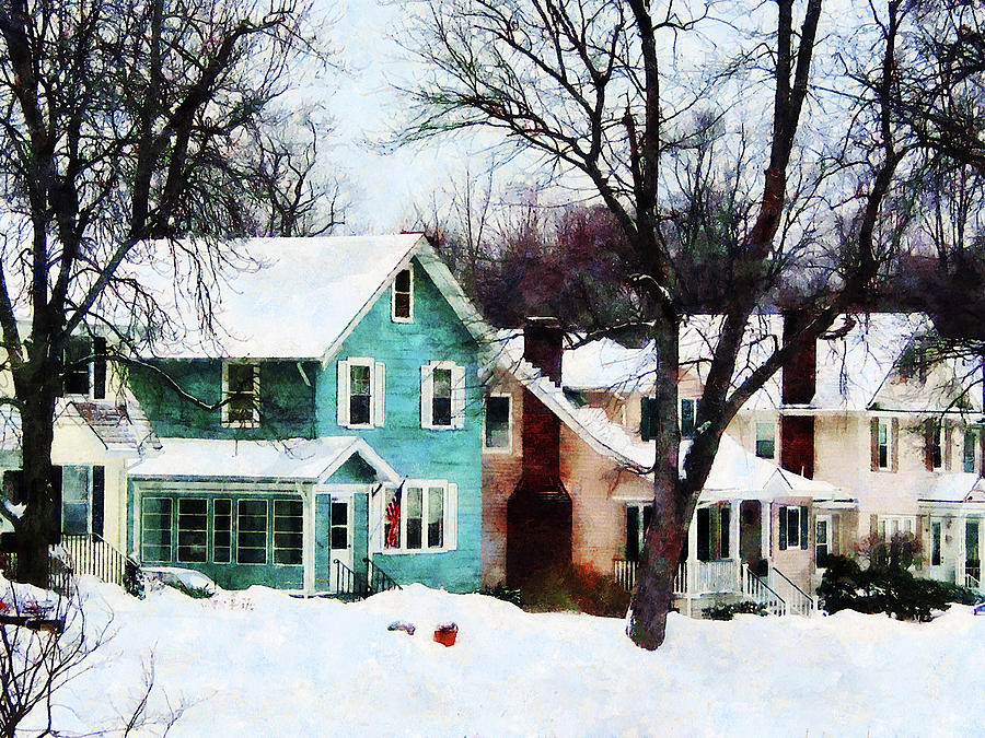 Winter Photograph - Street After Snow by Susan Savad