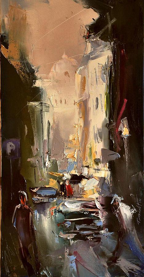 Landscape Painting - Street Cd by Timorinelt Tryptykieu