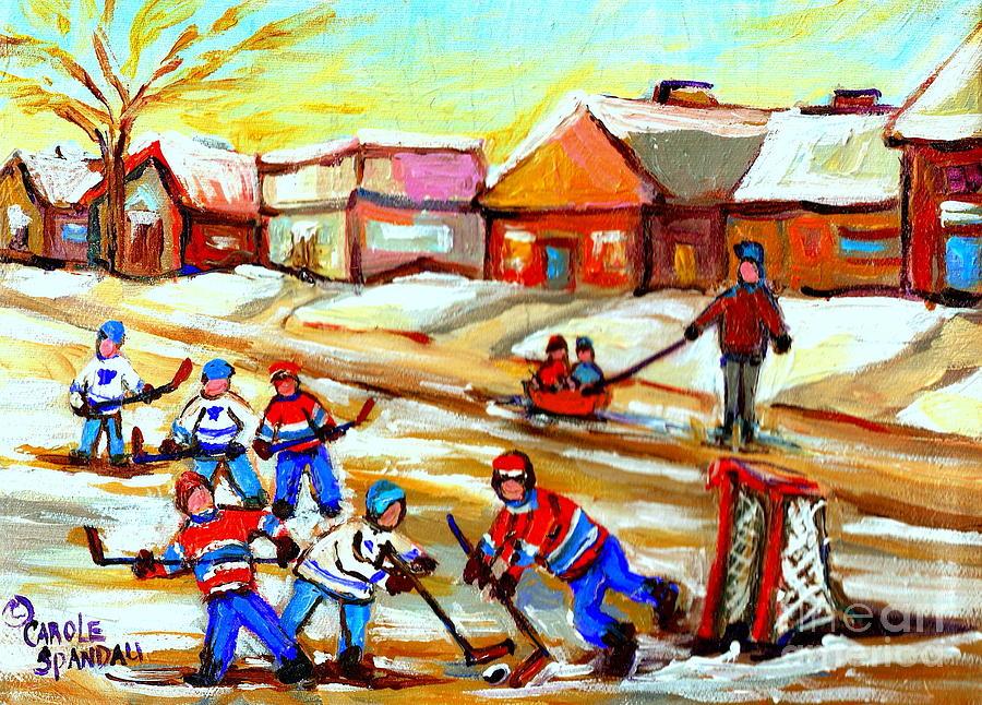 Street Hockey Thornhill Toronto Ontario Painting