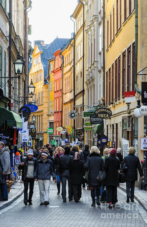 Street In Gamla Stan - The Old Part Of Stockholm - Sweden Photograph