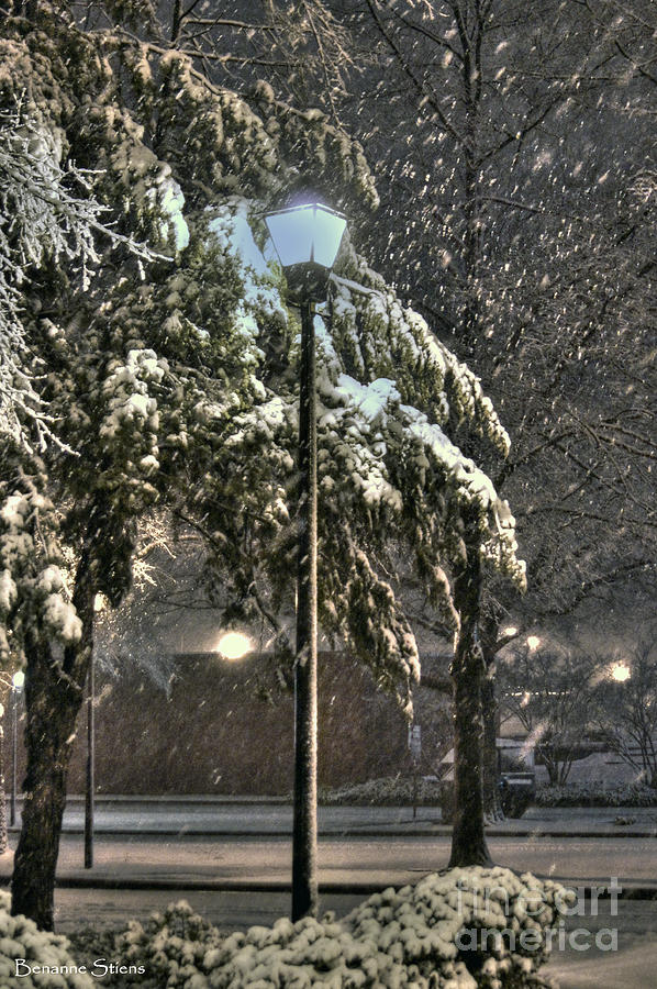 Street Lamp In The Snow Photograph