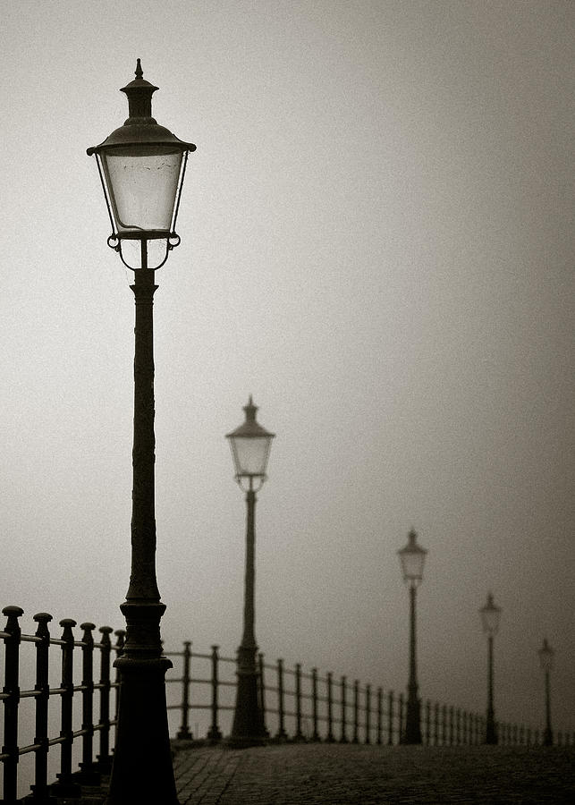 Street Lamps Photograph by Dave Bowman