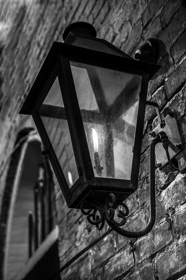 Street Light In Black And White Photograph