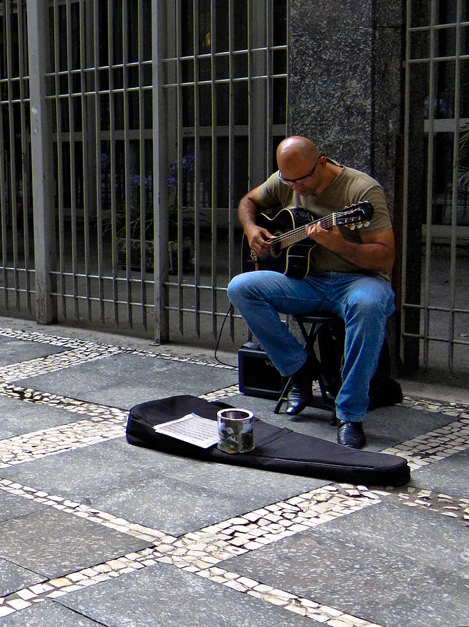 Street Musician - Sao Paulo Photograph