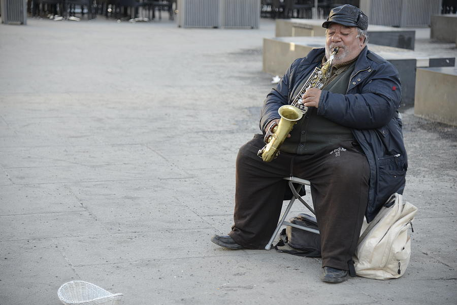 Street Musician - The Gypsy Saxophonist 3 Photograph