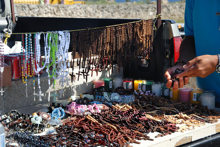 Street Vendor Selling Rosaries Photograph