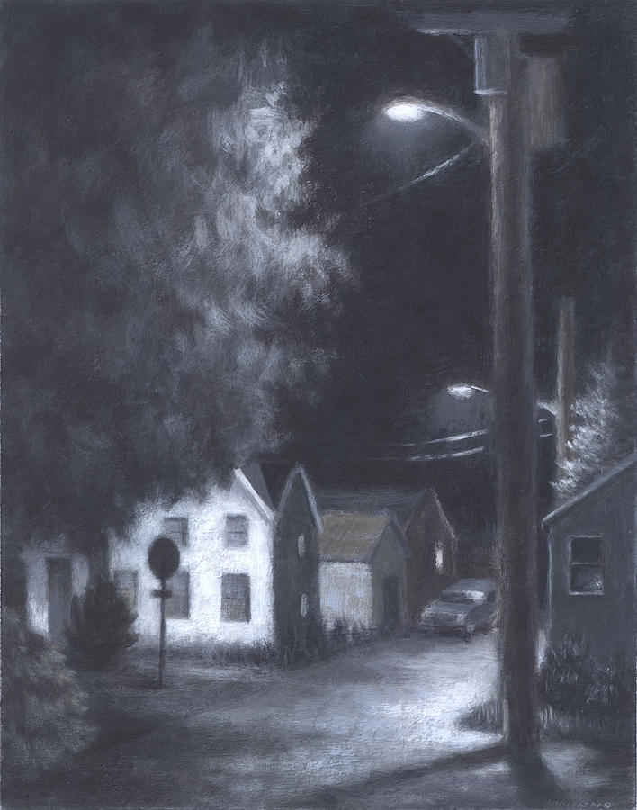 Streetlights Painting  - Streetlights Fine Art Print