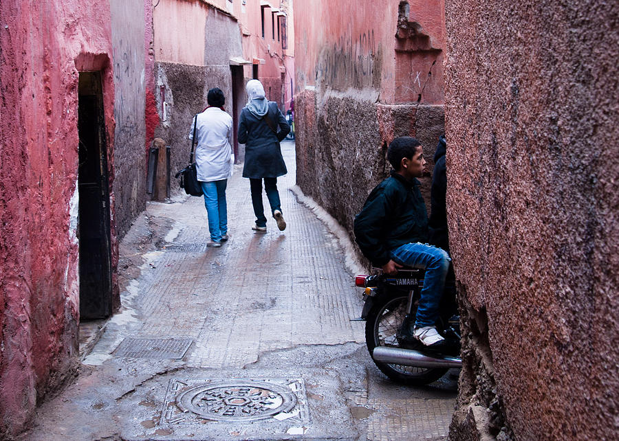 Streets Of Marrakesh Photograph  - Streets Of Marrakesh Fine Art Print