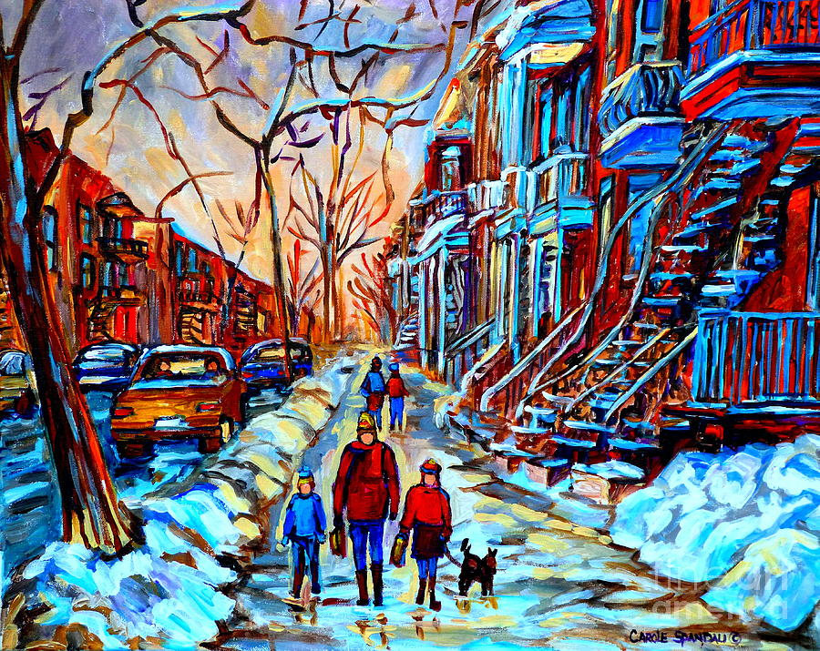 Montreal Painting - Streets Of Montreal by Carole Spandau