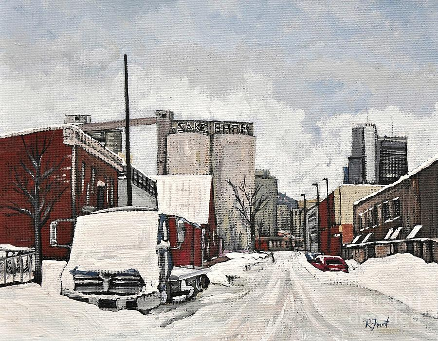 Streets Of Montreal Pointe St. Charles Painting