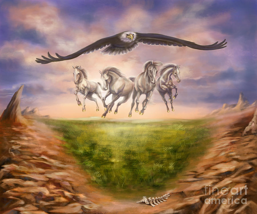 Christian Painting Painting - Strength Of The Horse by Tamer and Cindy Elsharouni