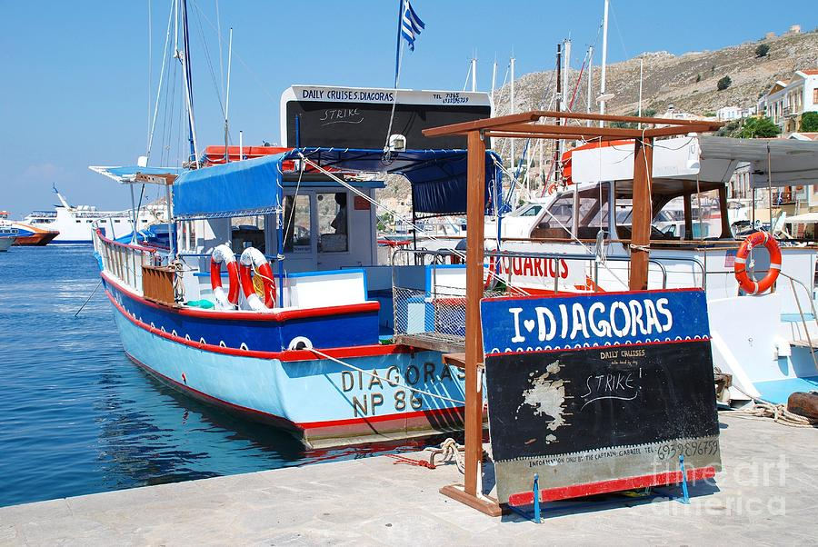 Striking Excursion Boat Symi Photograph
