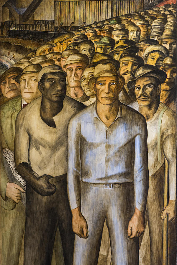 Striking Miners Mural In Coit Tower Painting