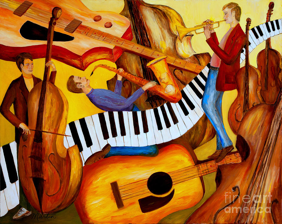 Strings And Things Painting  - Strings And Things Fine Art Print