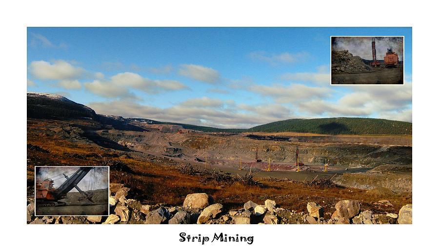 Strip Mining - Environment - Panorama - Labrador Photograph