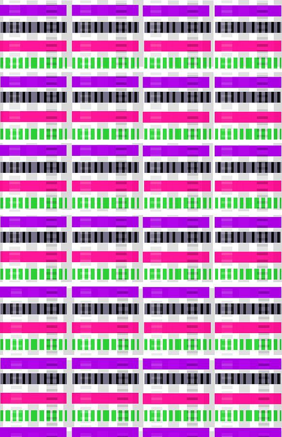 Digital Digital Art - Stripe And Check by Louisa Hereford