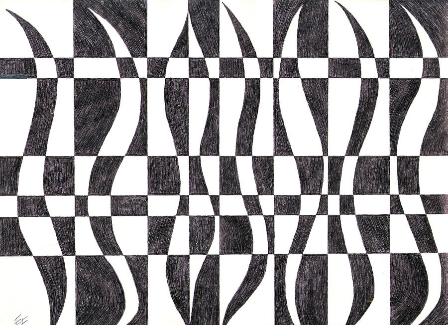 Striped Drawing  - Striped Fine Art Print