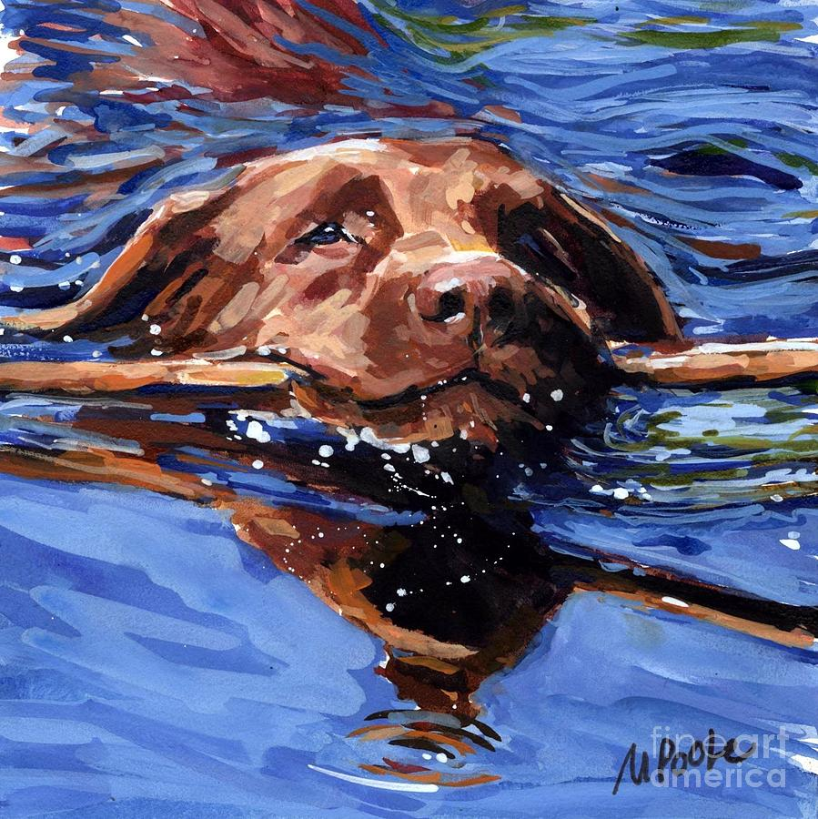 Strong Swimmer Painting - Strong Swimmer by Molly Poole