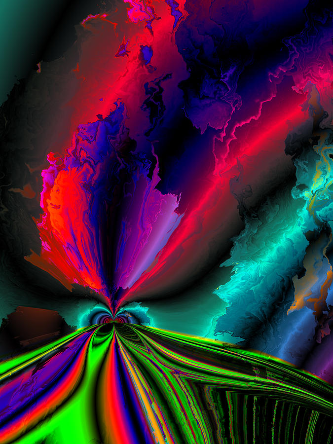 Struck By Lightning Digital Art