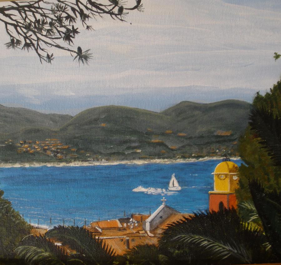 St.tropez France Painting  - St.tropez France Fine Art Print