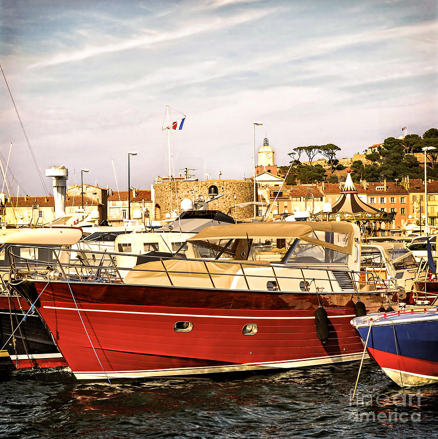 St.tropez Harbor Photograph