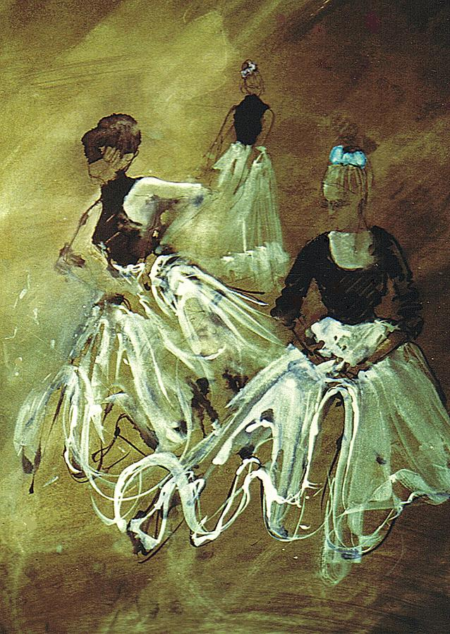 Dancers Painting - Study For Spanish Rehearsal by Podi Lawrence