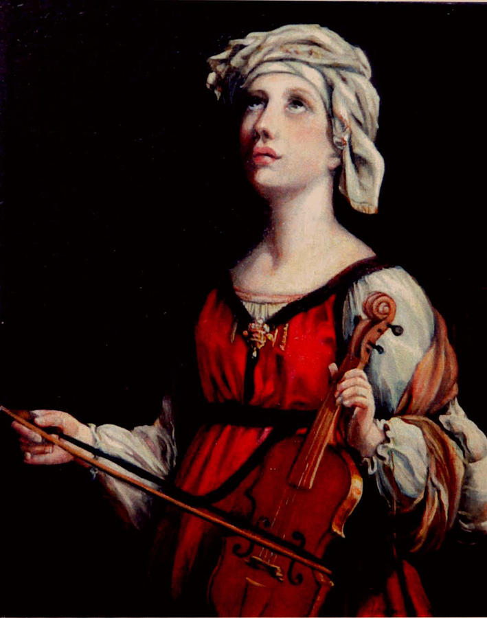 People Painting - Study Of St. Cecelia by Donna Tucker
