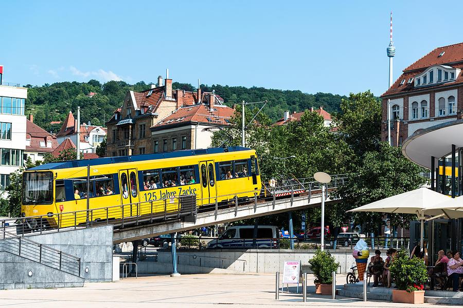 Stuttgart Marienplatz And Zacke Train Photograph By Frank