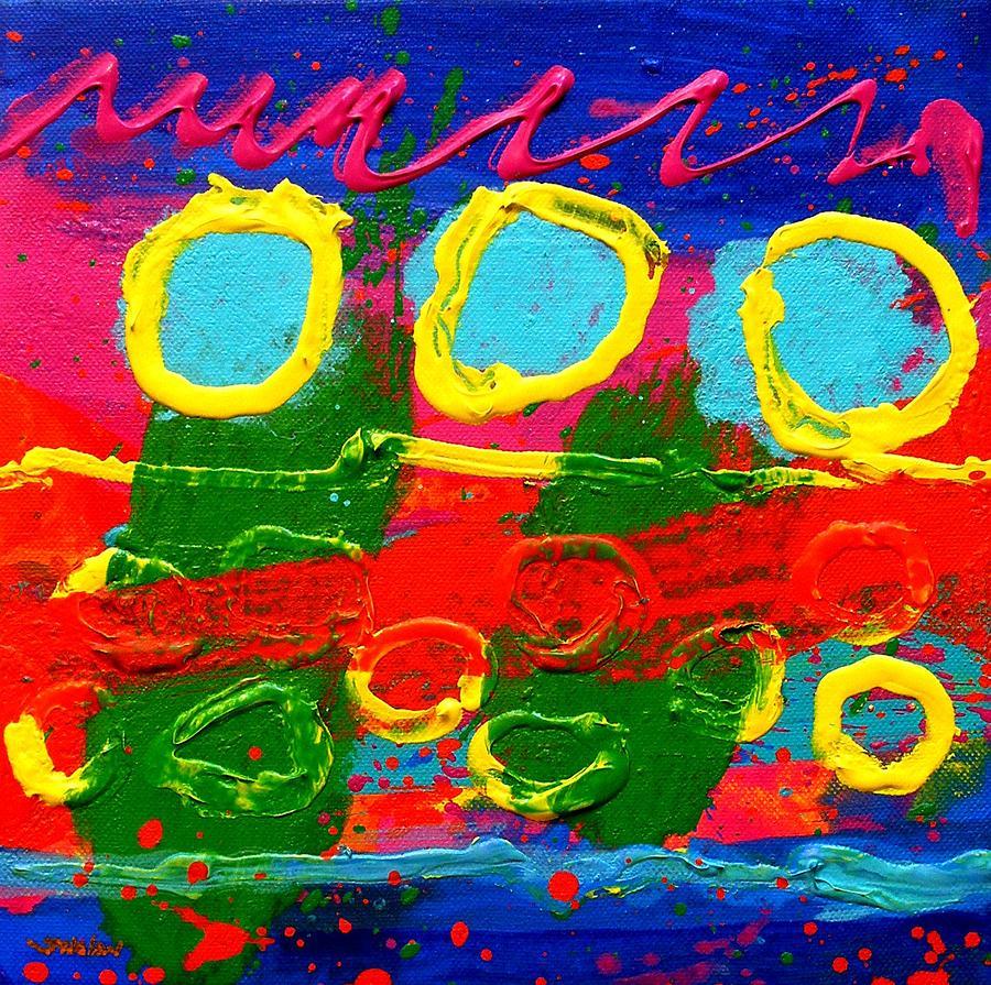 Acrylic Painting - Sub Aqua IIi - Triptych by John  Nolan