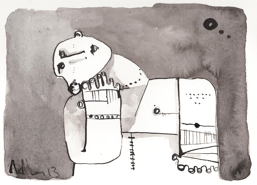 Ink Drawing - Sub Lunam No. 4 by Mark M  Mellon