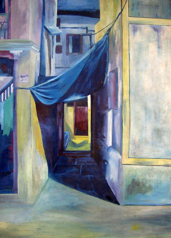 Landscap At Night Painting - Subani Khadki by Nital Dabhade