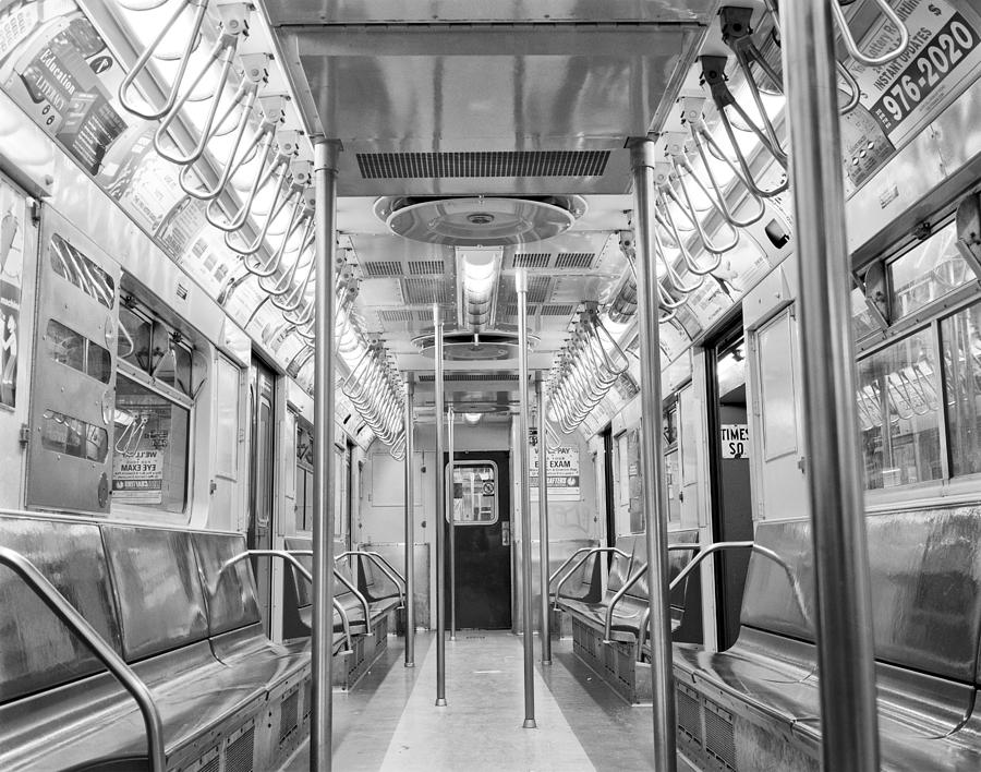 new york city subway car photograph by dave beckerman. Black Bedroom Furniture Sets. Home Design Ideas
