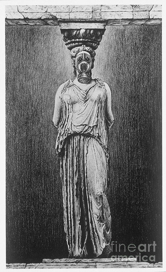 Suffocating Caryatid  Digital Art