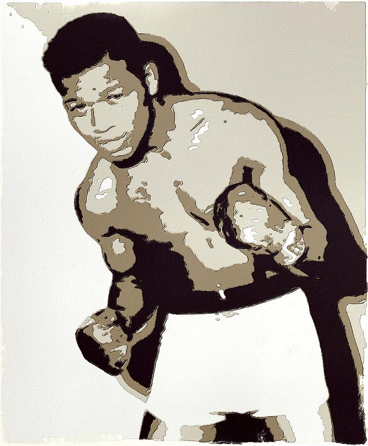 Ray Robinson Painting - Sugar Ray Robinson by Florian Rodarte