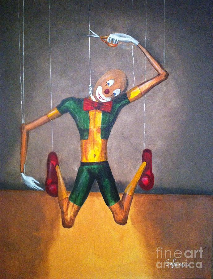 Suicide Of A Puppet Painting