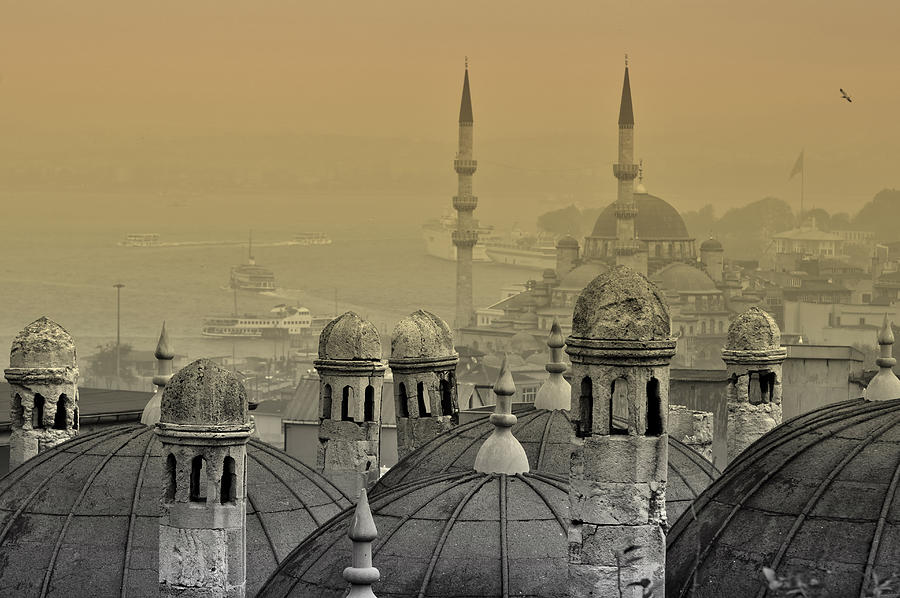 Suleymaniye Mosque And New Mosque In Istanbul Photograph